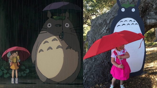 Photo op with Totoro. Photo by Ariane Coffin.